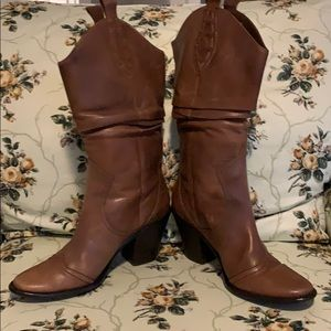 BCBG Leather Cowgirl Boots Size 7.5